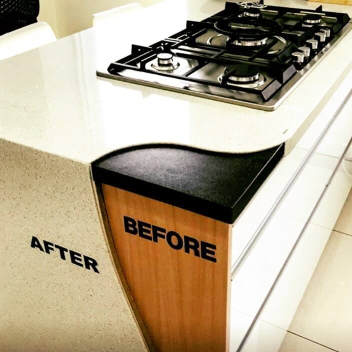 Before and After Granite Transformations Benchtop Resurfacing