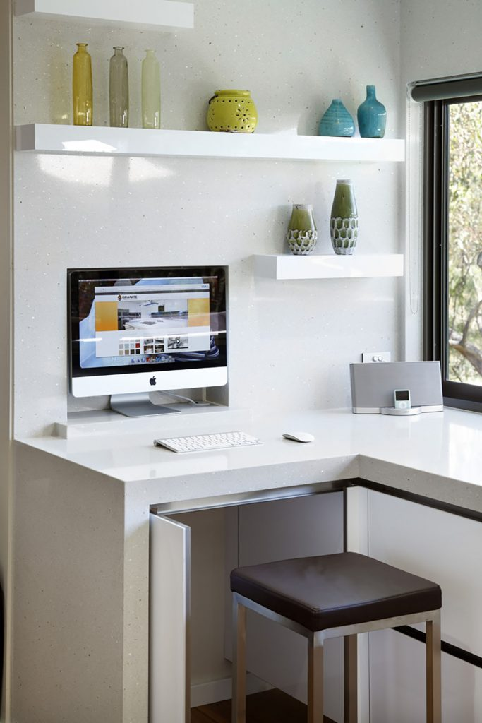 build in office in kitchen