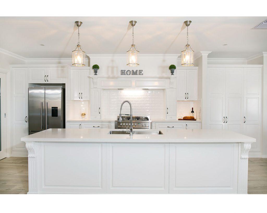 modern white kitchen with shaker doors sydney
