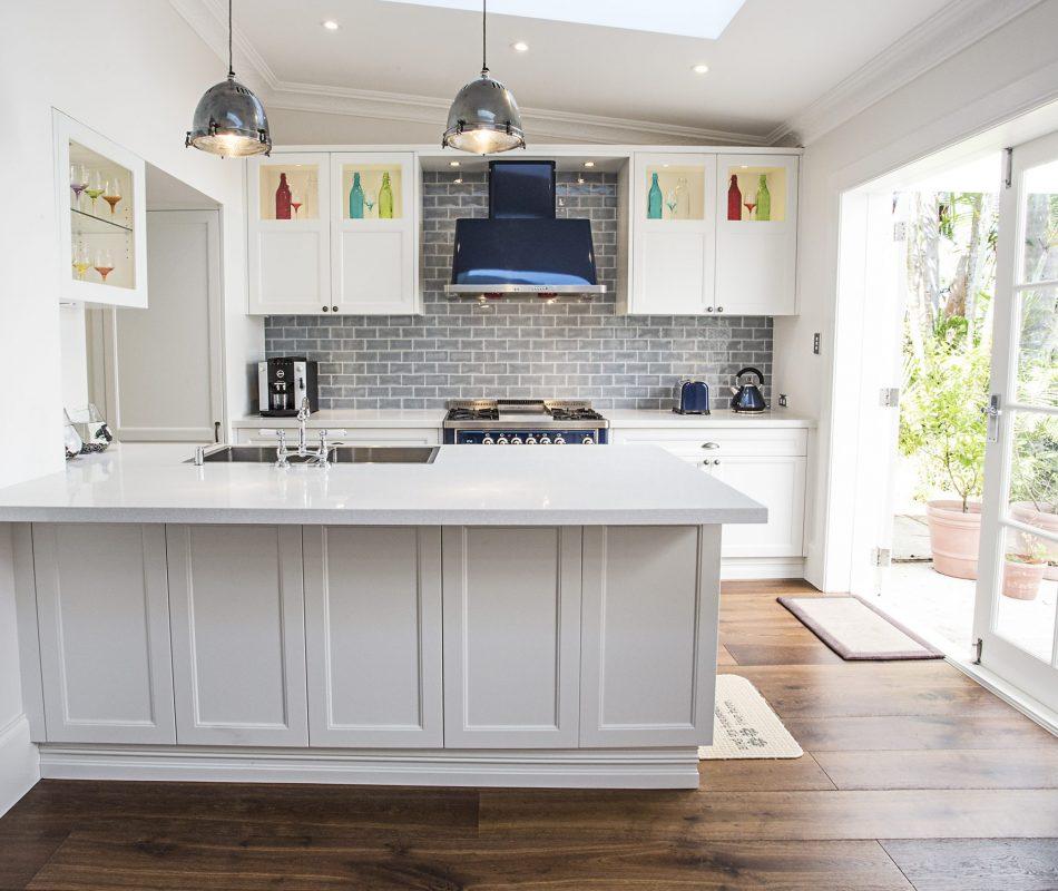 Hamptons kitchen in Cronulla, Sydney